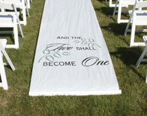 Customized Aisle Runner